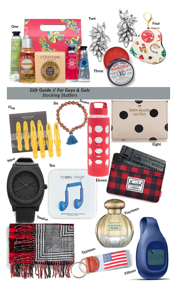 Gift Guide for Guys and Girls - Stocking Stuffer Ideas