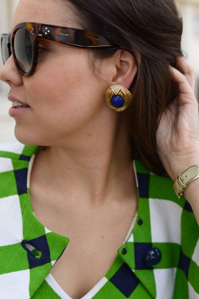 Celine sunglasses + vintage earrings