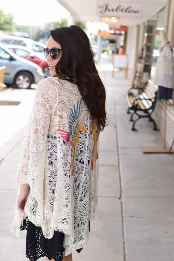Judith March partridge kimono