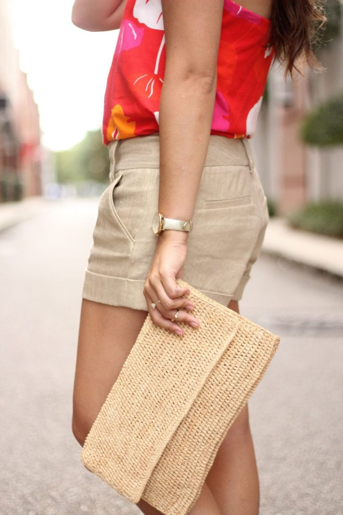 Metallic gold Alice+Olivia shorts
