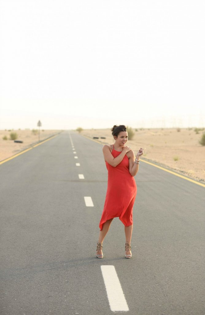 Little Red Dress - Dubai Blogger