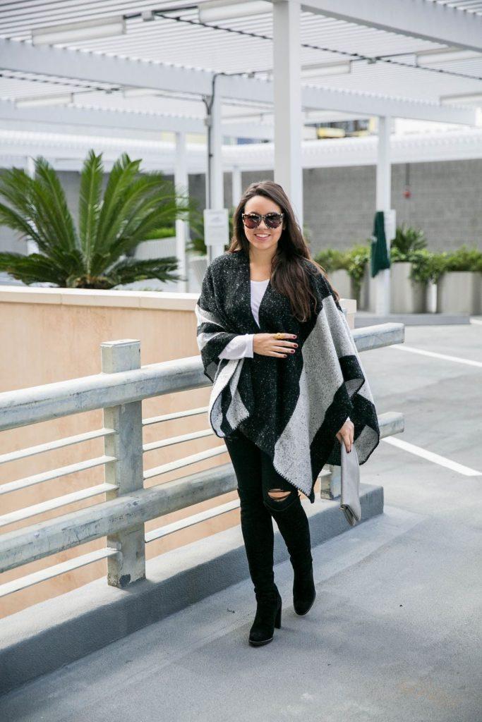 Ily Couture Striped Cape