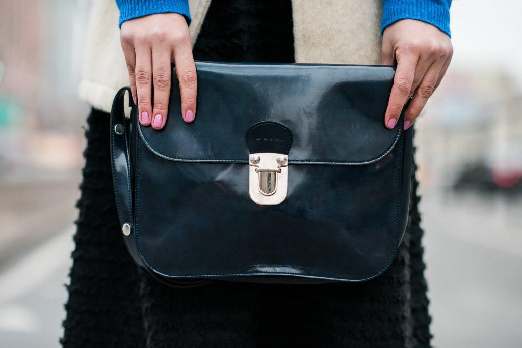 Marni blue leather purse