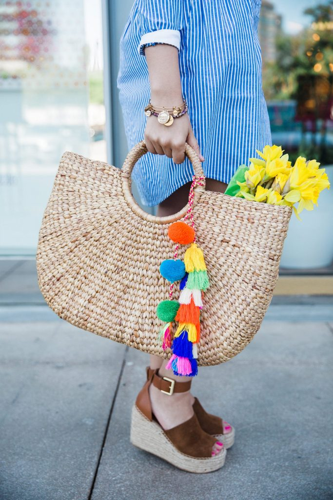 Jadetribe handwoven tassel basket