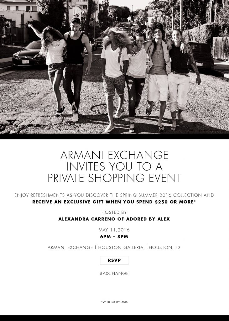 Armani Exchange Houston - Adored by Alex
