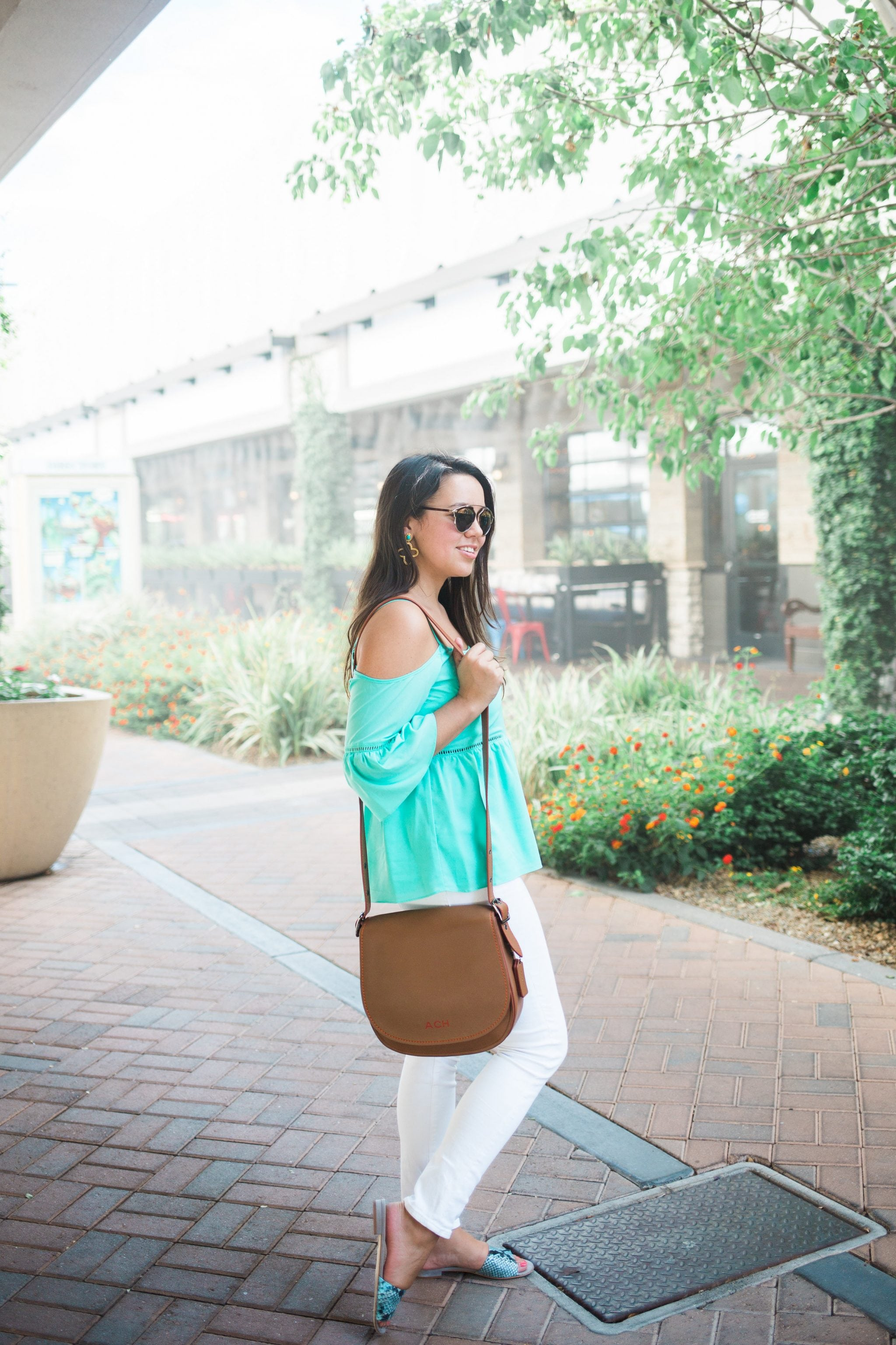 Glove tanned leather crossbody