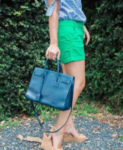 Gingham amp green with envy  my cork wedges arehellip