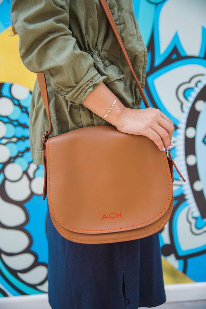 Coach Saddle Bag with personalization