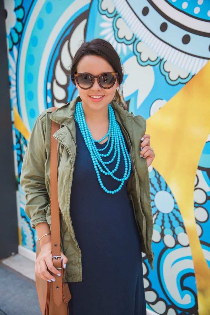 Bauble bar teal beaded necklace