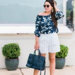 Navy Floral Stripes