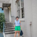 Mixing navy and green