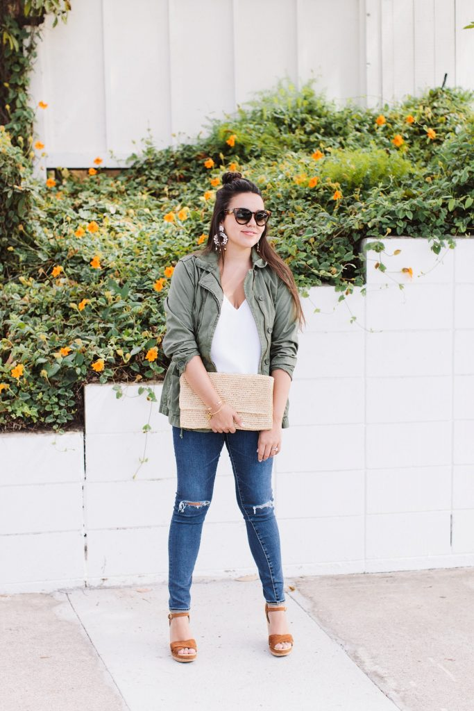 Casual military jacket style