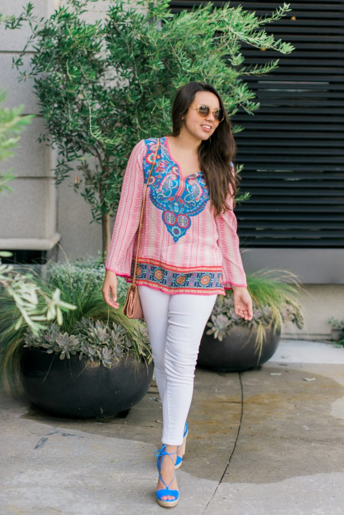 Silk tunic top