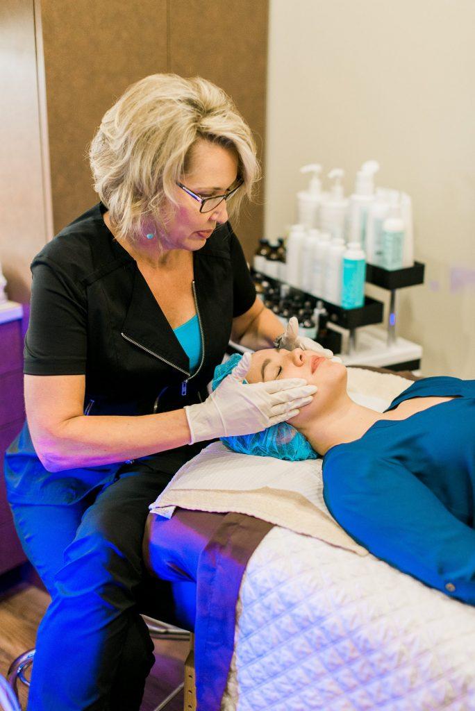 Camille Cash MD hydrafacial treatment