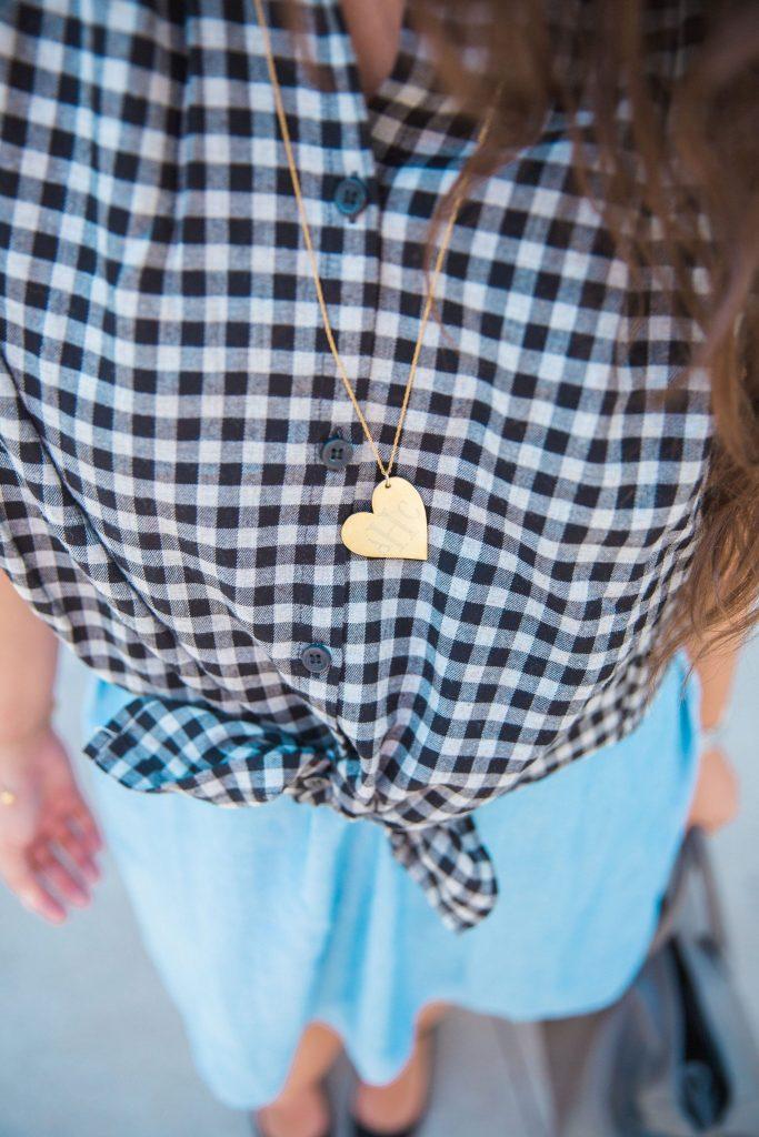 Monogrammed heart necklace - Golden Thread