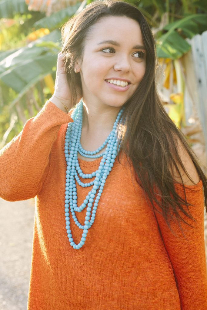 Bauble Bar bold beaded strands necklace