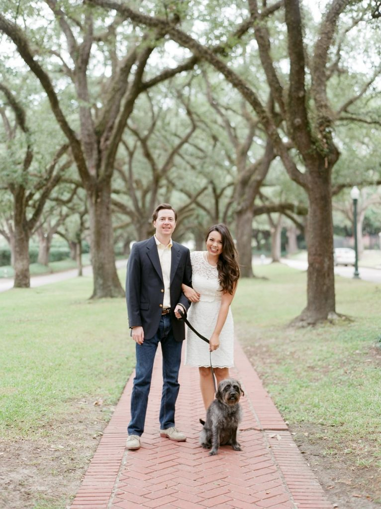 Fiance plus puppy, makes three - happily engaged and can't wait to be married!