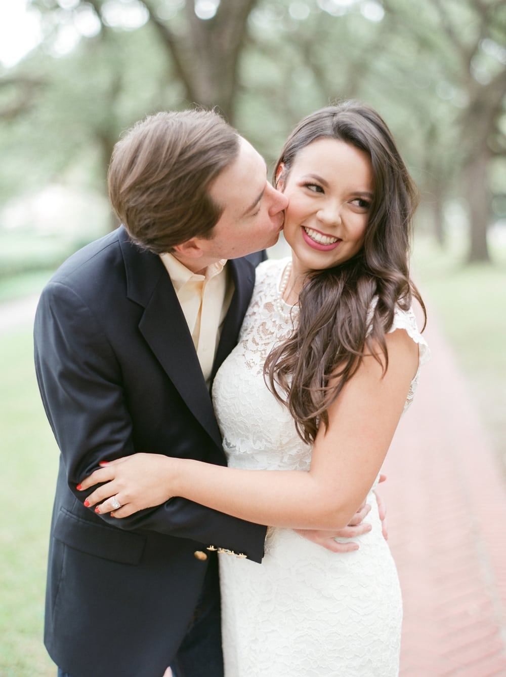 What makes the perfect engagement photo? A loving finance and the perfect dress thanks to David's Bridal!
