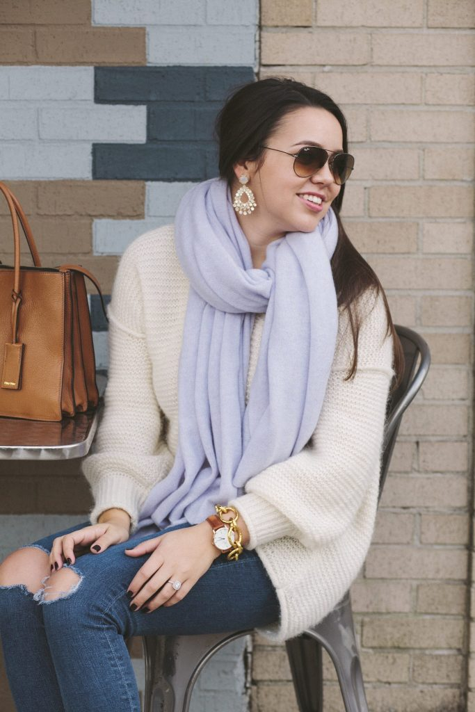White and Warren travel wrap cashmere scarf
