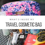 What's in my travel cosmetic case - Adored by Alex - travel tips