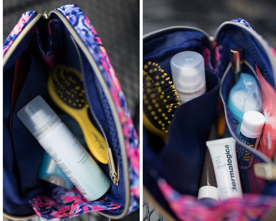 What's in my travel cosmetic pouch