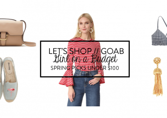 Girl on a Budget under $100 spring shopping