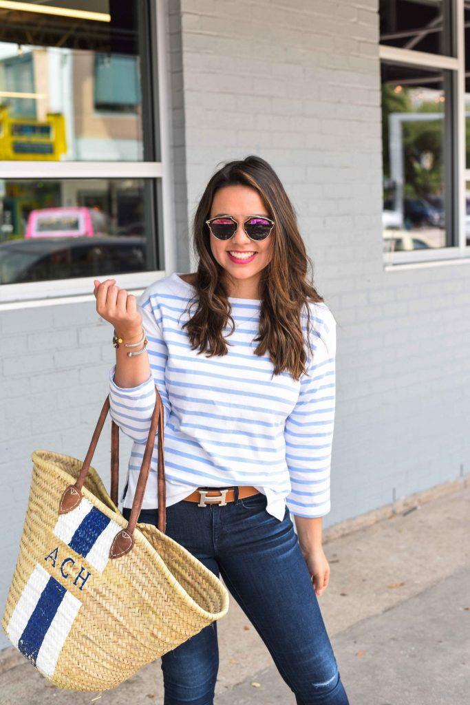The basket bag trend | French market basket | basket tote