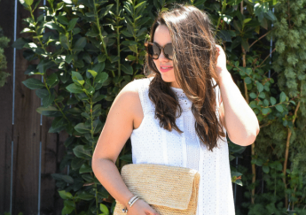 Summer White Eyelet Shift Dress + Link-Up