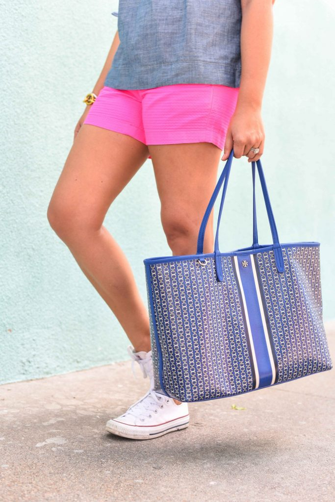 Tory Burch Gemini Link toe   Summer tote bag   The best tote under $200
