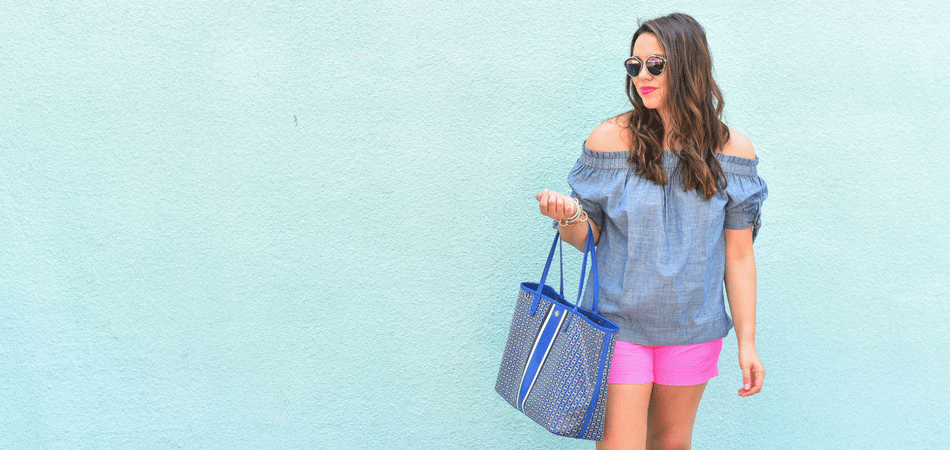 Summer chambray and shorts | Lilly Pulitzer shorts