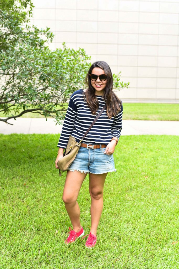 Patriotic preppy outfit | fourth of July outfit idea