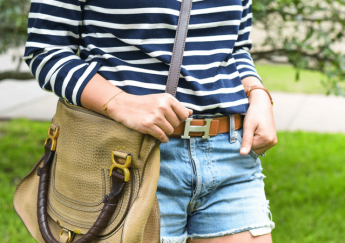 Preppy patriotic stripes | Hermes belt