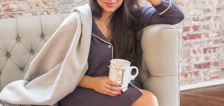 Coffee Talk _ Eberjey Pajama shirt