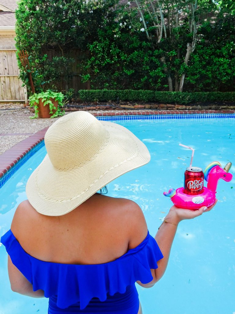Pick Your Pepper with Dr Pepper, unicorn pool drink float