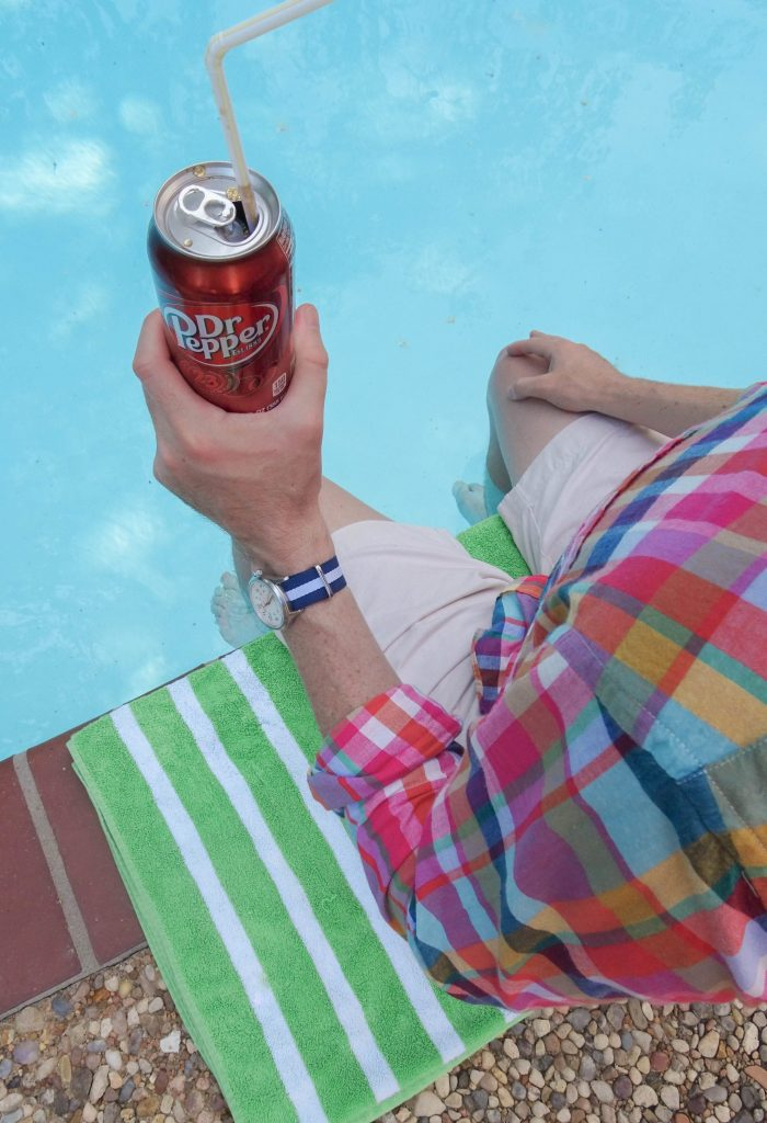 Dr Pepper by the pool