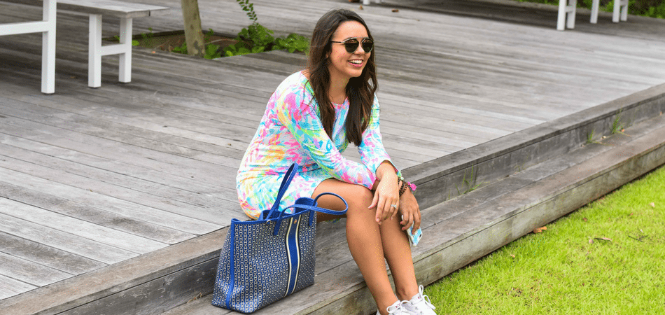 Summer in Lilly | Printed cotton t-shirt dress