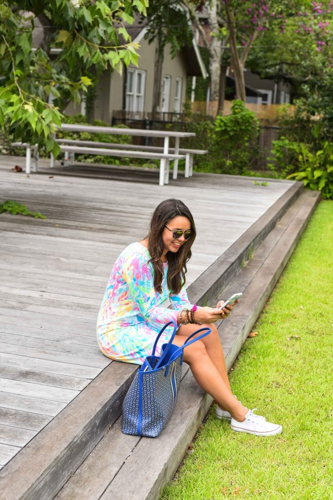 Cotton t-shirt dress | Lilly Pulitzer outfits | Preppy summer outfit idea
