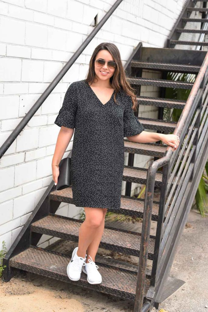 How to wear a dress and Nikes, fashionable, street style