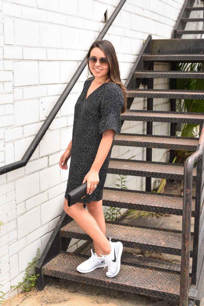 Flutter sleeve dress | Classic shift dress | Little black dress