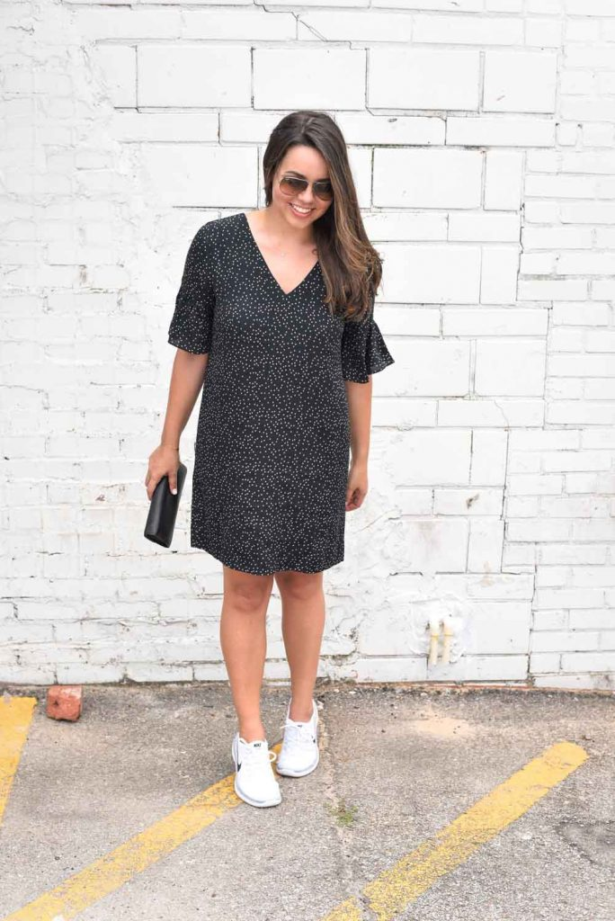 Chic dress and sneakers | Nike outfits | Dress and sneakers