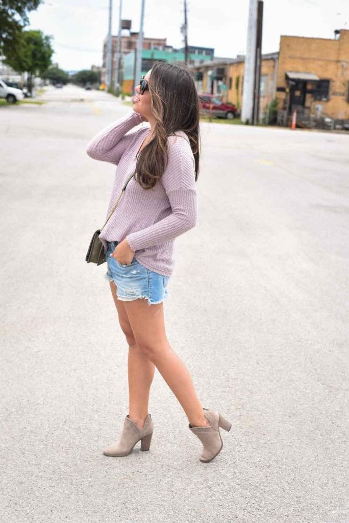 How to wear booties with cut-off denim shorts | Styling booties for summer