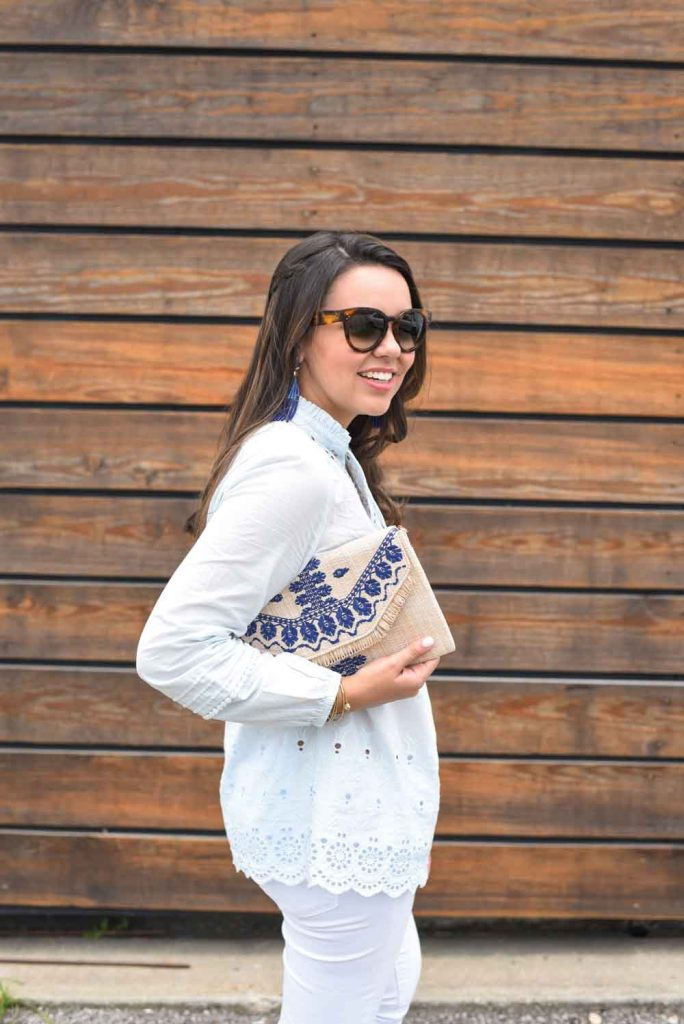 Summer embroidered clutch | Stella & Dot accessories