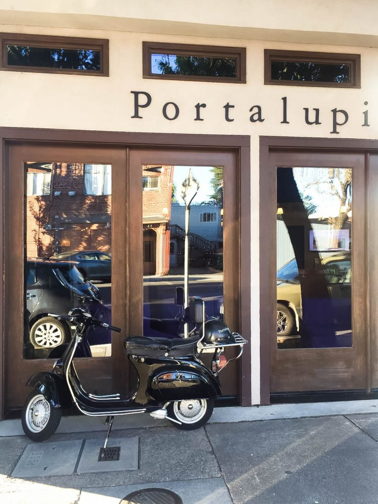 Portalupi tasting room, vineyards
