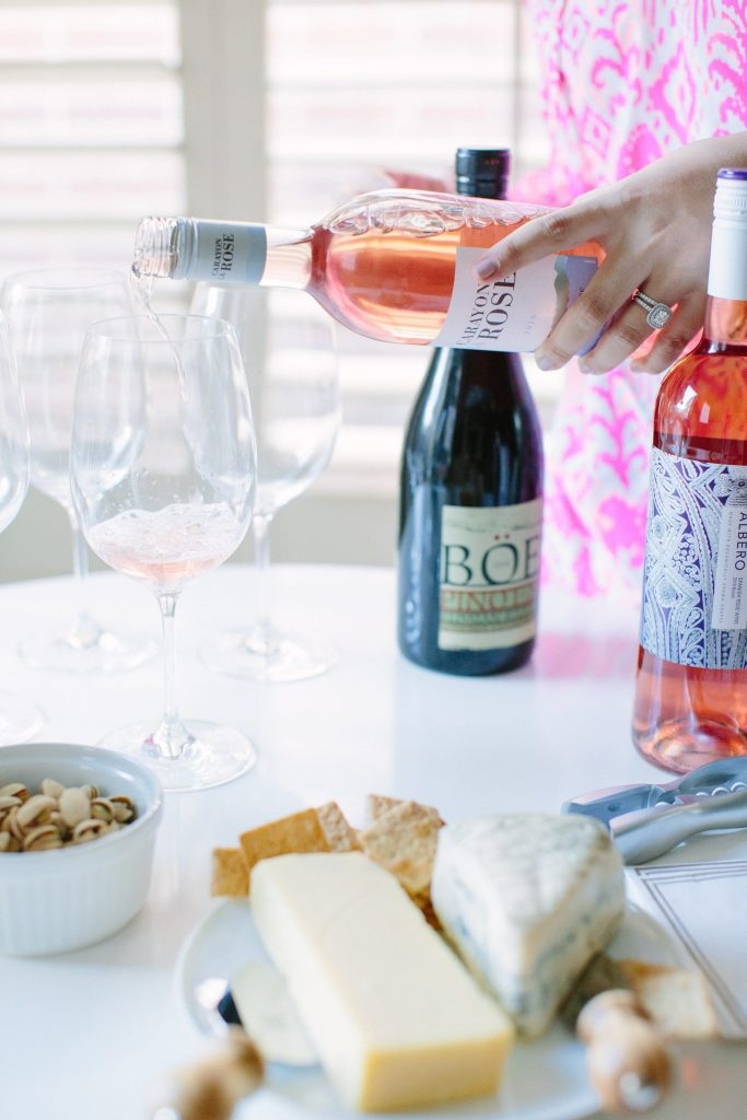 Summer entertaining with wine and cheese | Summer rosé wine