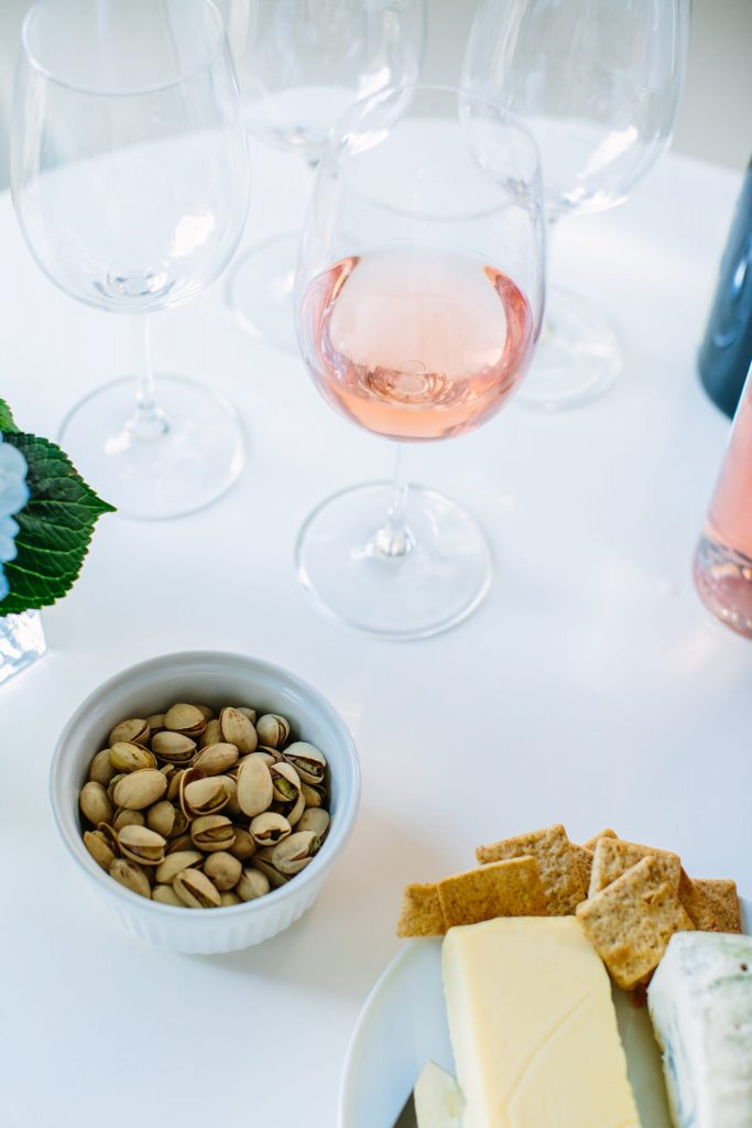 Summer wine and cheese spread