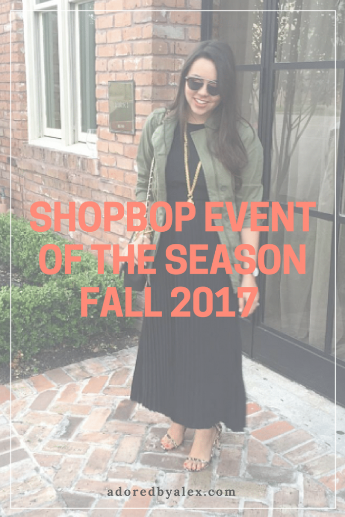 Shopbop Event of the Season 2017 - Adored by Alex