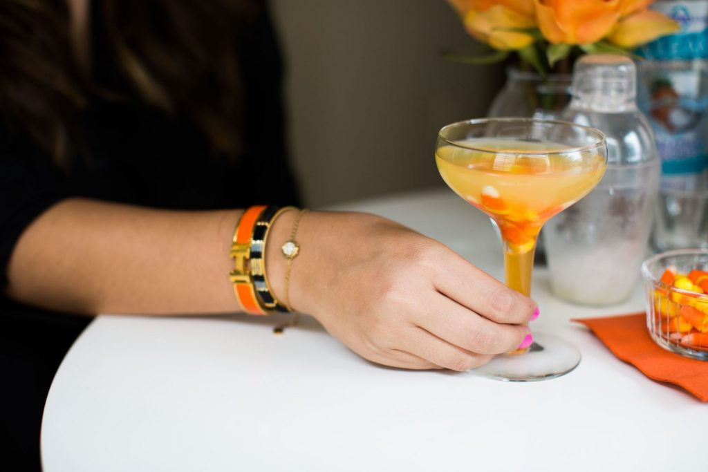 Halloween party beverage, Candy Corn Martini, Easy party drinks
