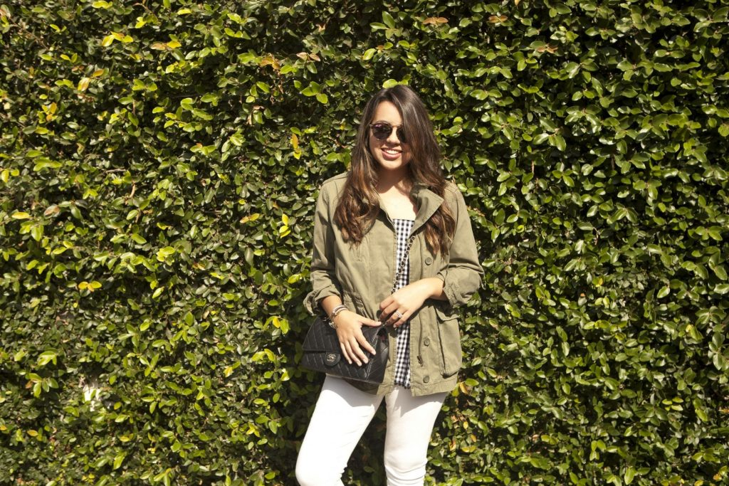 dressing for fall, outfit ideas, military jacket