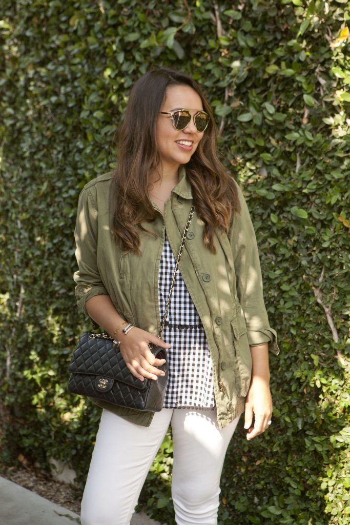 fall military jacket, outfit ideas