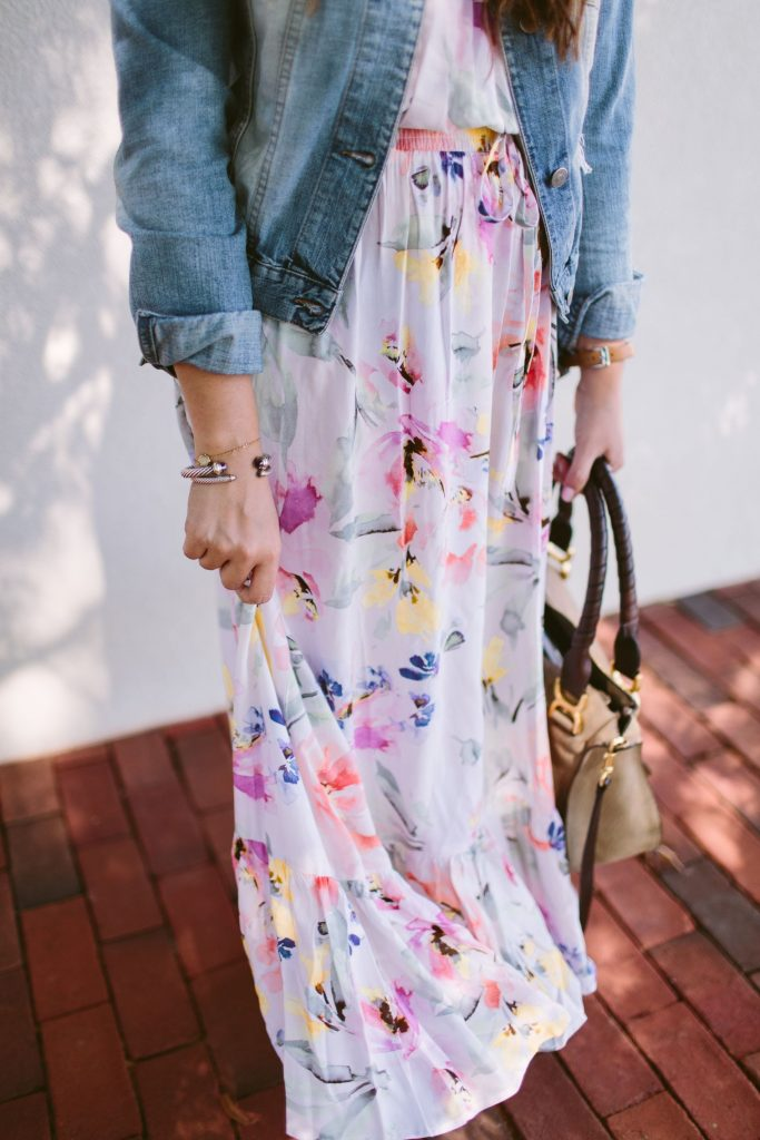 best dresses for vacation, floral maxi dress